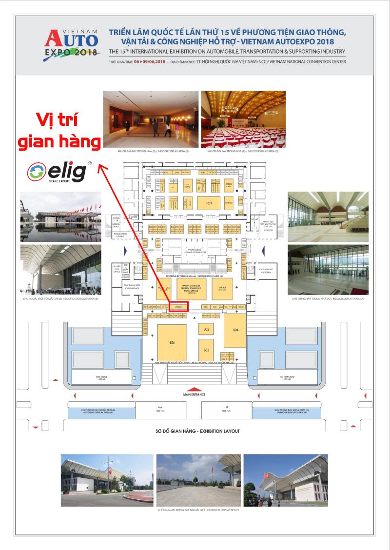 Vị trí gian hàng Elig tại hội chợ triển lãm quốc tế lần thứ 15